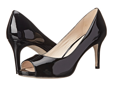 Cole Haan - Bethany Open Toe Pump (Black Patent) High Heels