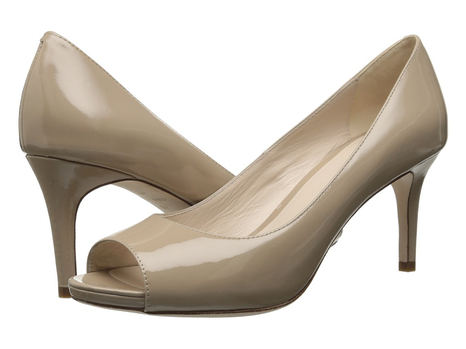 Cole Haan - Bethany Open Toe Pump (Maple Sugar Patent) High Heels