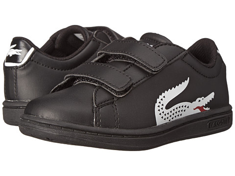 Lacoste - Carnaby EVO CLC SP15 (Toddler/Little Kid) (Black/White) Men's Hook and Loop Shoes