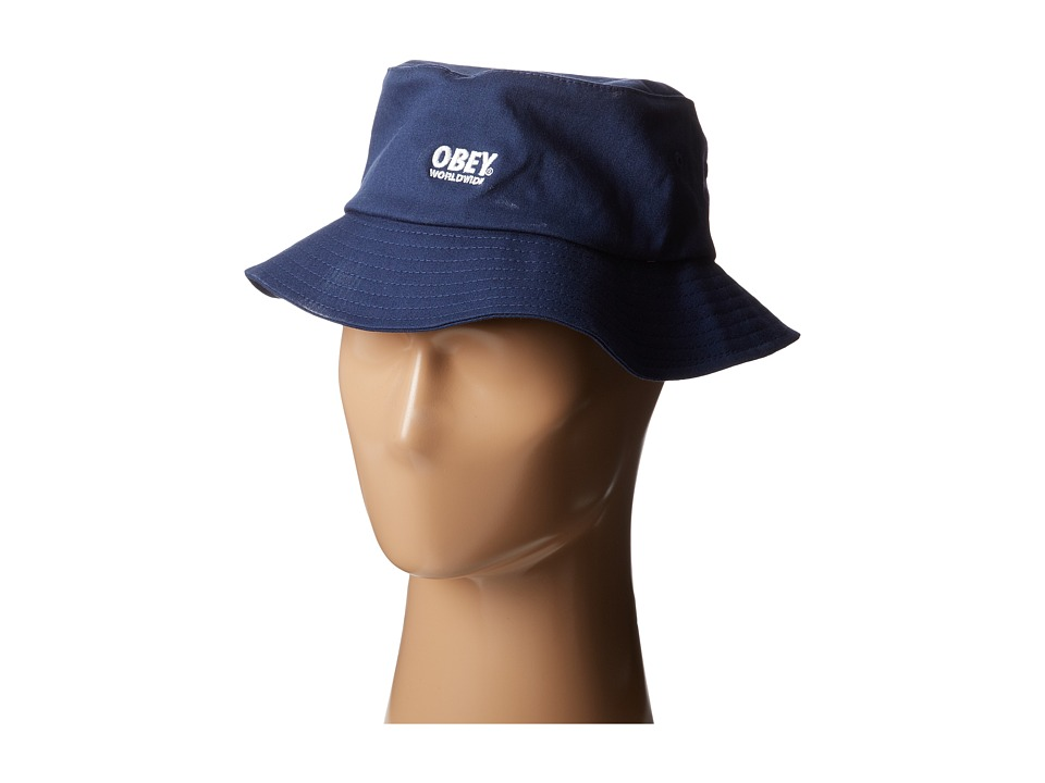 Obey - Worldwide Bucket Hat II (Navy) Bucket Caps