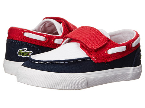 Lacoste - Keel CLC SP15 (Toddler/Little Kid) (Dark Blue/Red) Men