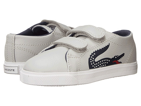Lacoste Kids - Marcel CLC SP15 (Toddler/Little Kid) (Light Grey/Light Grey) Boy's Shoes