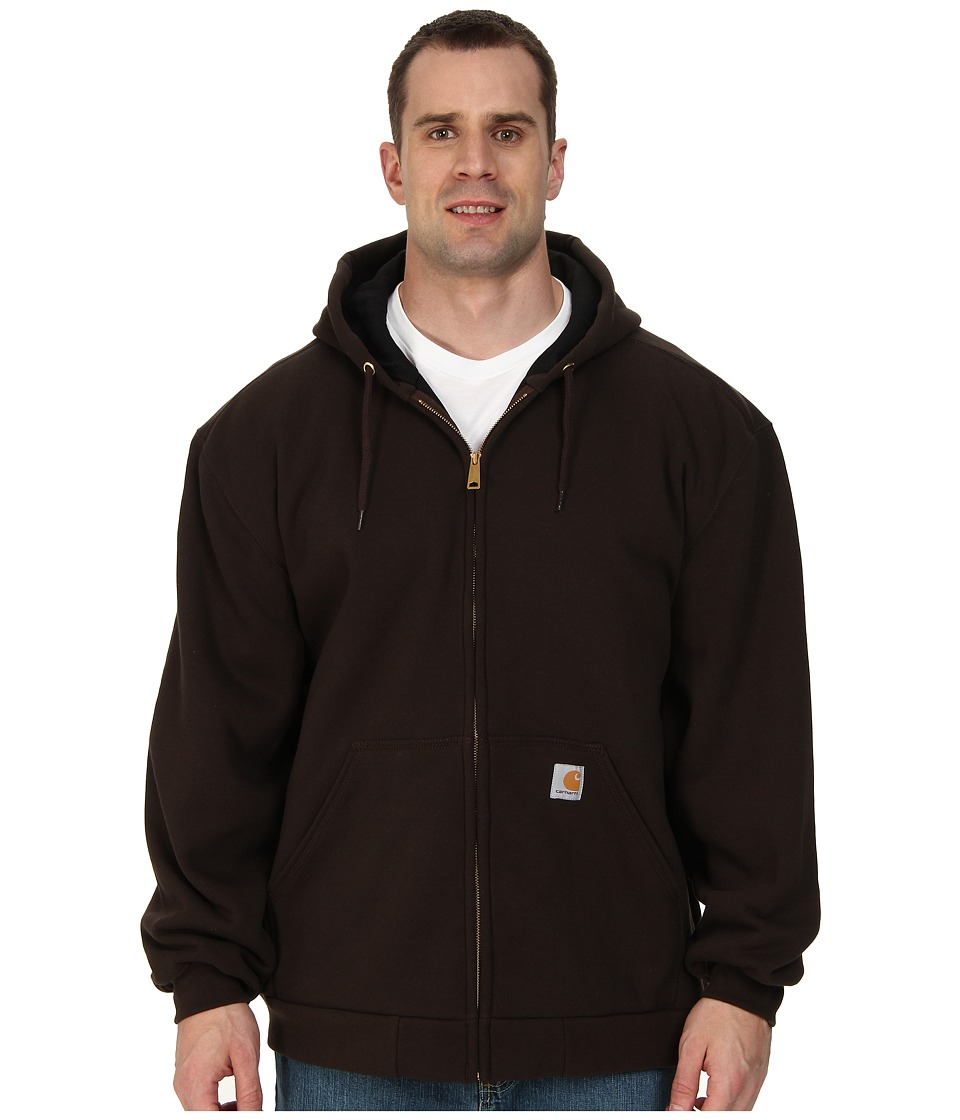 Carhartt - Big Tall Rain Defender Rutland Thermal Lined Hooded Zip Front Sweatshirt (Dark Brown) Men's Sweatshirt