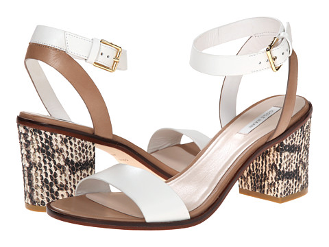 Cole Haan - Cambon Mid Sandal (Optic White/Snake Print) High Heels