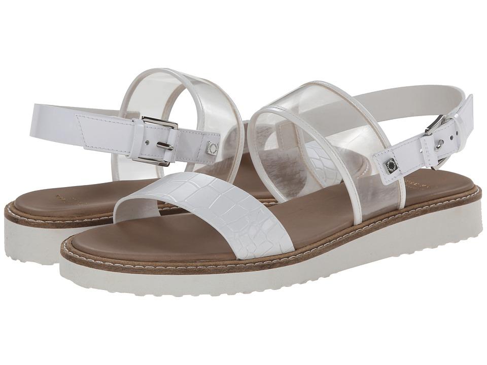 Cole Haan Capri Sandal (White Patent/Croc Embossed) Women