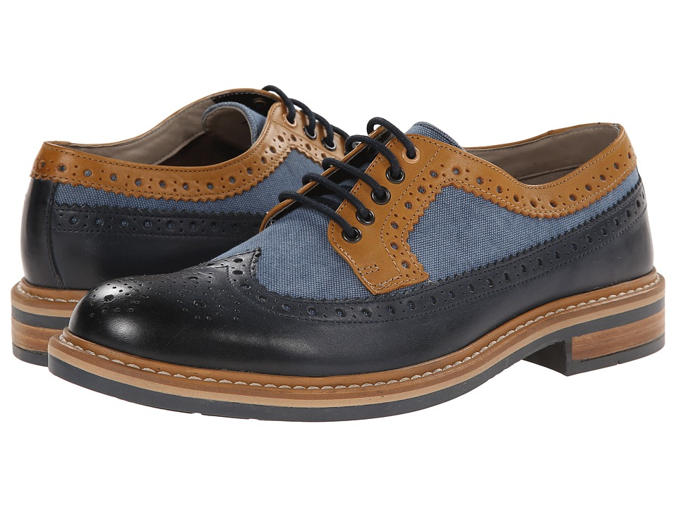 Clarks - Darby Limit (Blue Combi) Men's Lace Up Wing Tip Shoes