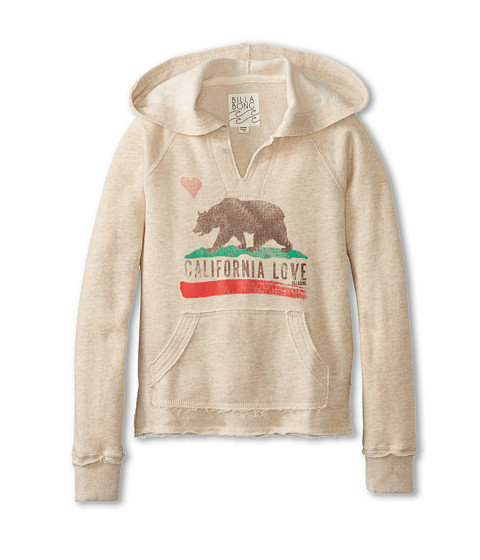 Billabong Kids - Day Away Fleece Hoodie (Little Kids/Big Kids) (Oatmeal Heather) Girl
