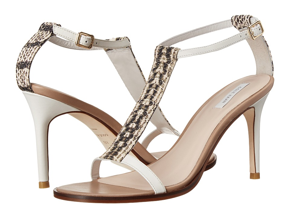 Cole Haan Cee Sandal (Optic White/Snake Print) High Heels