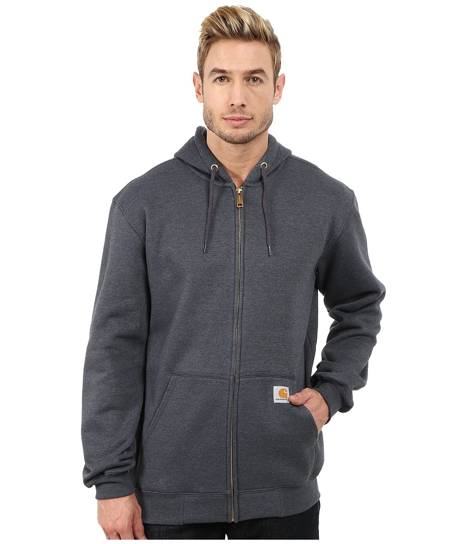 Carhartt - MW Hooded Zip Front Sweatshirt (Charcoal Heather) Men's Sweatshirt