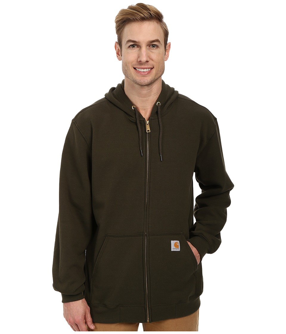 Carhartt - MW Hooded Zip Front Sweatshirt (Olive) Men's Sweatshirt