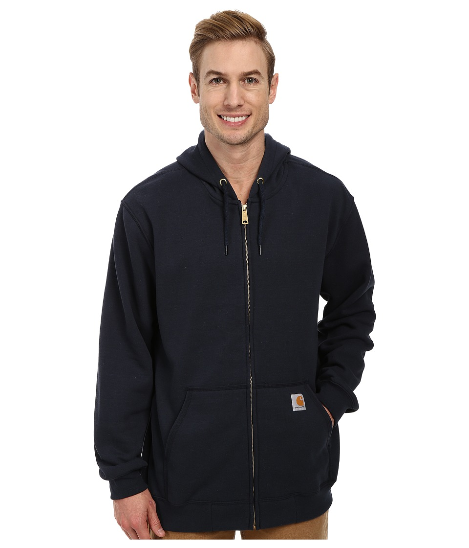 Carhartt - MW Hooded Zip Front Sweatshirt (New Navy) Men's Sweatshirt