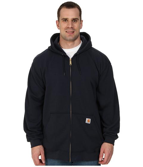Carhartt - Big Tall Midweight Hooded Zip Front Sweatshirt (New Navy) Men