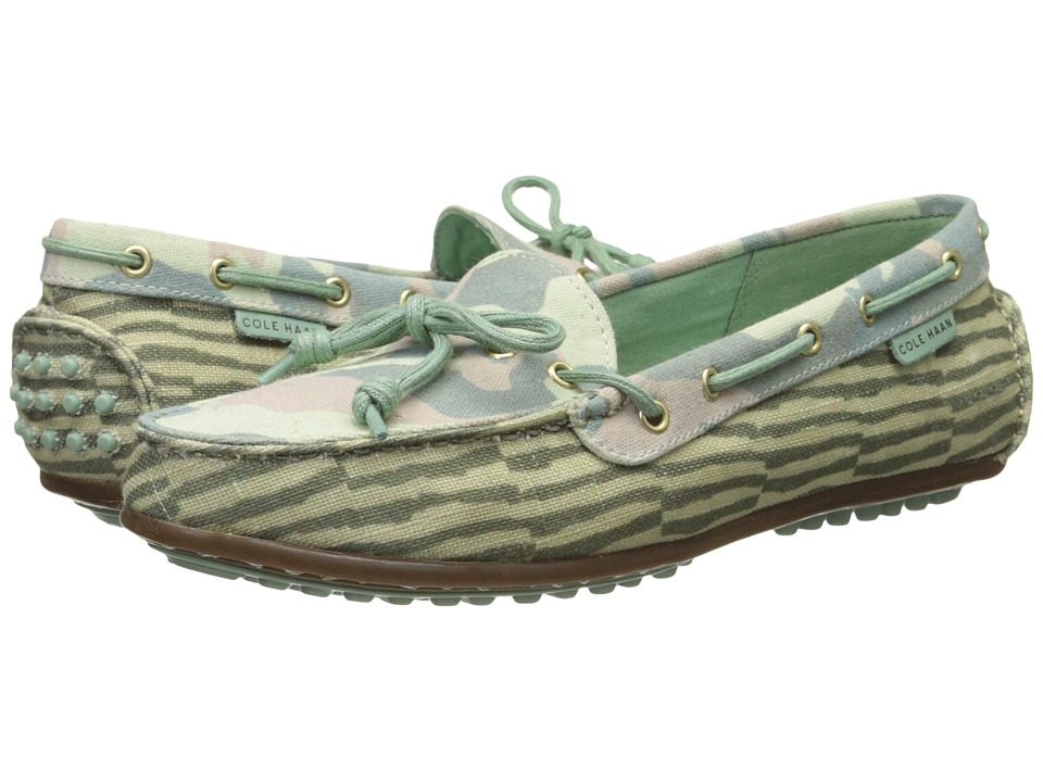 Cole Haan - Grant Escape (Green Combo Print/Grey Jade Stripe) Women's Moccasin Shoes
