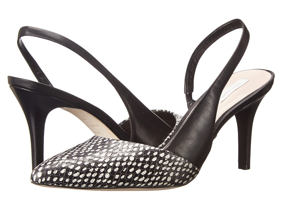 Cole Haan Highline Sling (Black/Optic White Spotted Snake Print/Black) Women