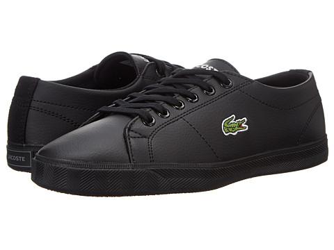 Lacoste Kids - Marcel LCR SP15 (Little Kid/Big Kid) (Black/Black) Kids Shoes
