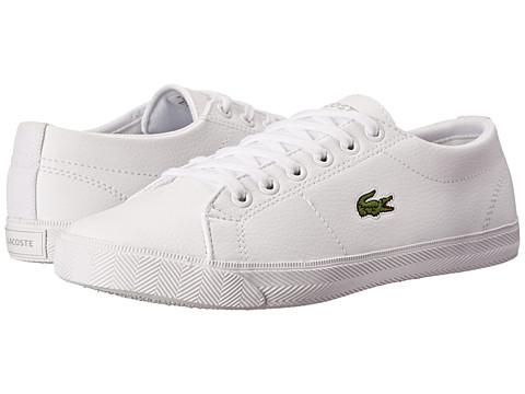 Lacoste Kids - Marcel LCR SP15 (Little Kid/Big Kid) (White/White) Kids Shoes