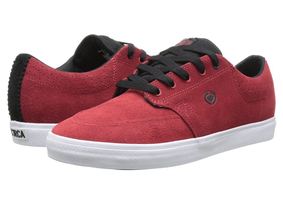 Circa - Transit (Pompeian Red/Black) Men's Skate Shoes