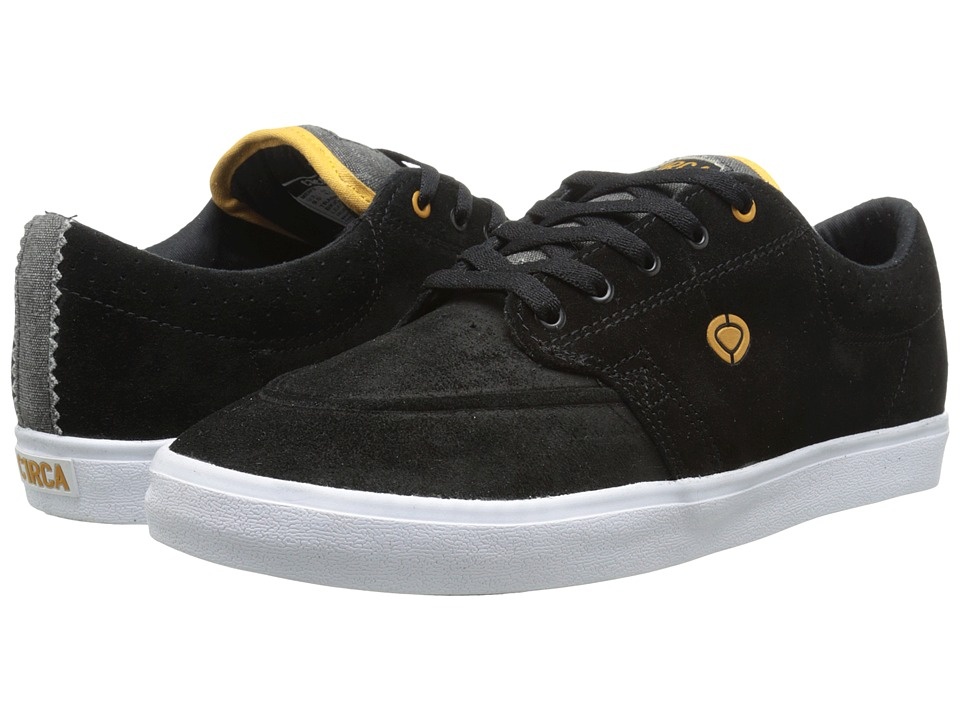 Circa - Transit (Black/Inca Gold) Men's Skate Shoes