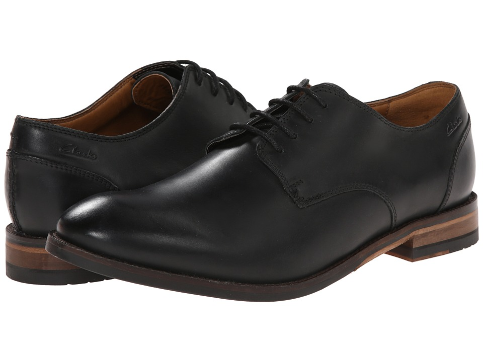 Clarks - Exton Walk (Black Leather) Men's Shoes