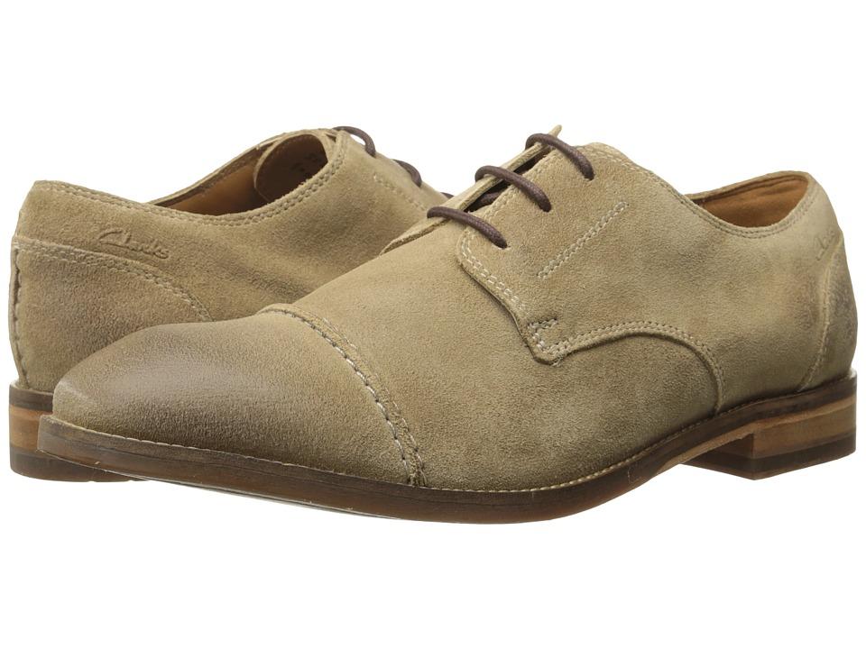 Clarks - Exton Cap (Taupe Suede) Men's Shoes