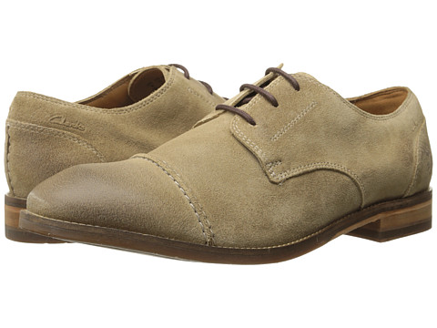 Clarks - Exton Cap (Taupe Suede) Men's Shoes