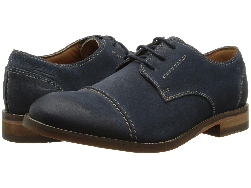 Clarks - Exton Cap (Navy Suede) Men's Shoes