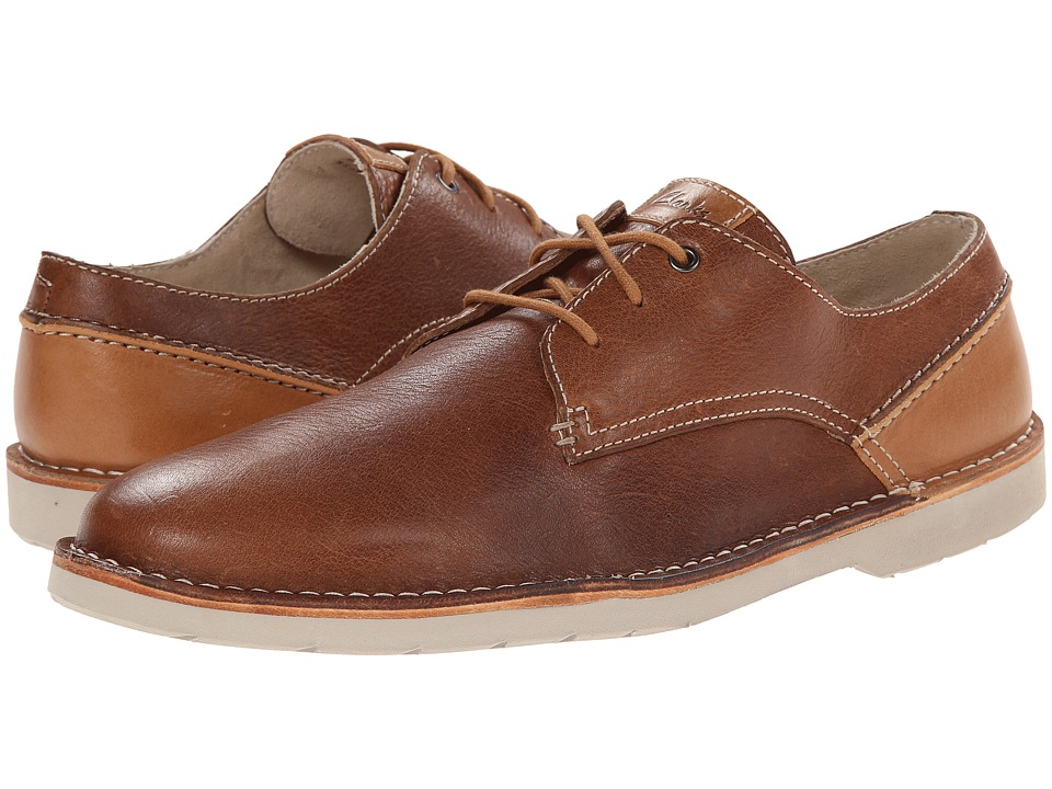 Clarks - Hinton Fly (Tan Leather) Men's Shoes
