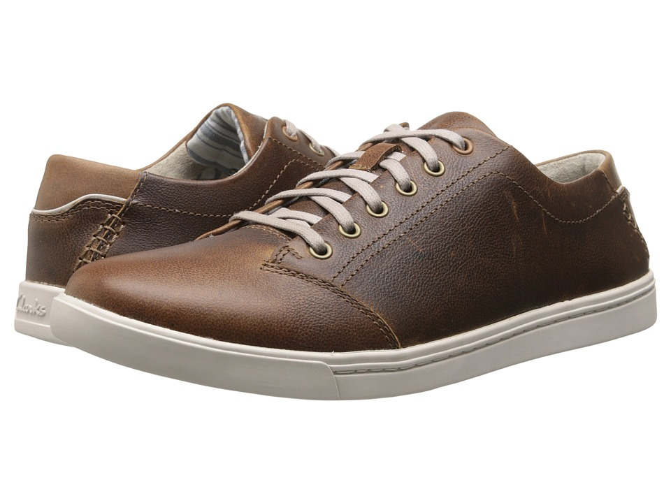 Clarks - Newood Street (Tan Leather) Men's Lace up casual Shoes