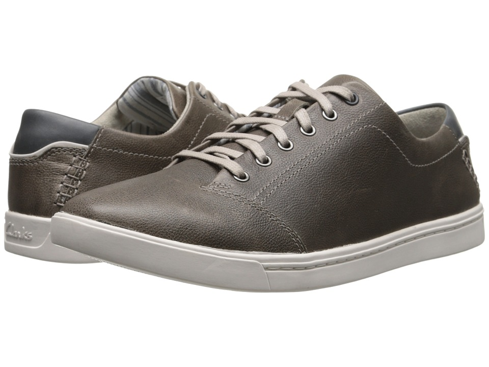 Clarks - Newood Street (Grey Leather) Men's Lace up casual Shoes