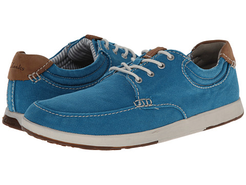 Clarks - Norwin Vibe (Aqua Canvas) Men