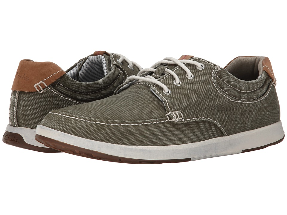 Clarks - Norwin Vibe (Dark Green Canvas) Men's Shoes
