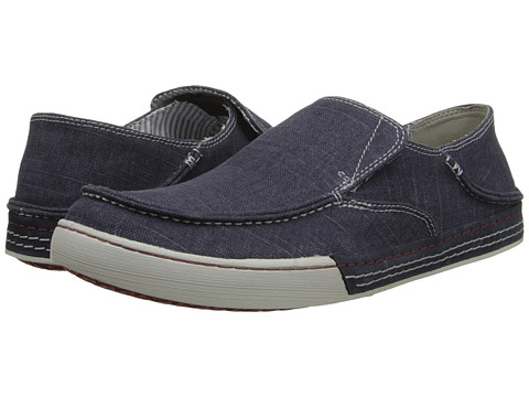 Clarks - Slaten Free (Denim Canvas) Men's Slip on Shoes