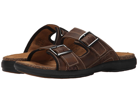 Clarks - Un.Bryman Part (Brown Leather) Men's Sandals