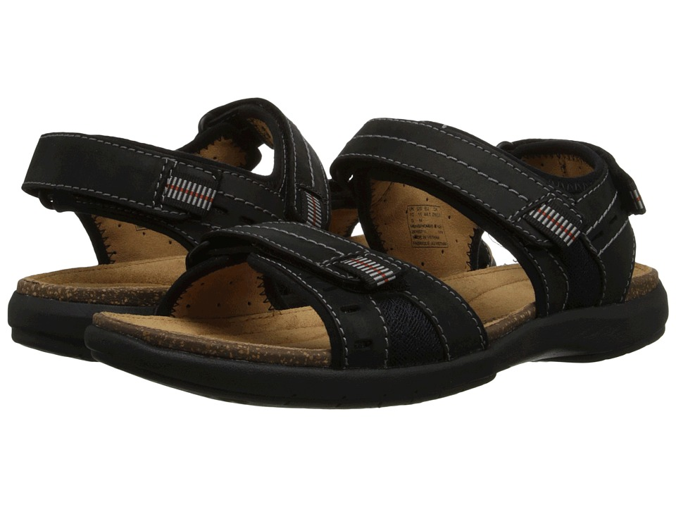 Clarks - Un.Bryman Sun (Black Leather) Men's Sandals