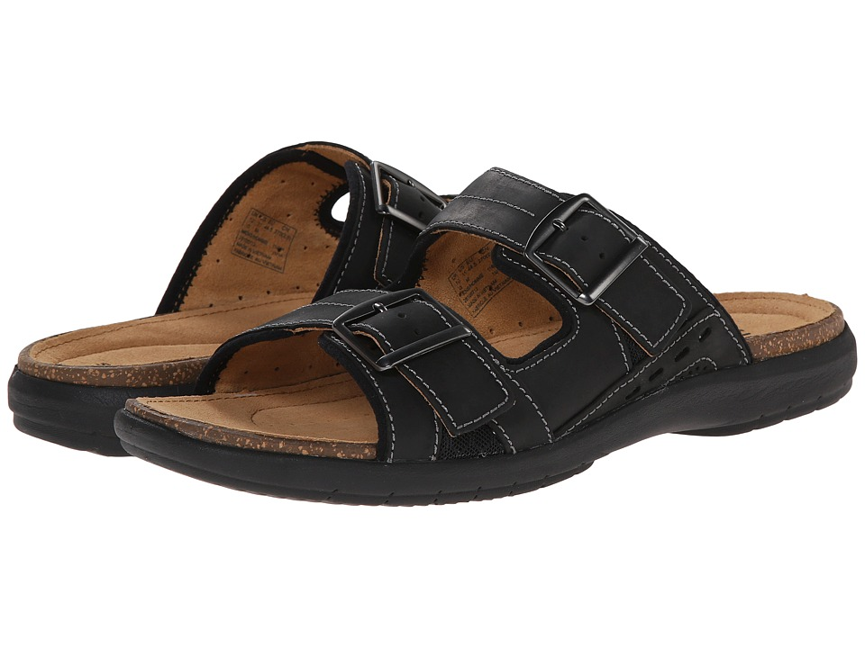 Clarks - Un.Bryman Part (Black Leather) Men's Sandals