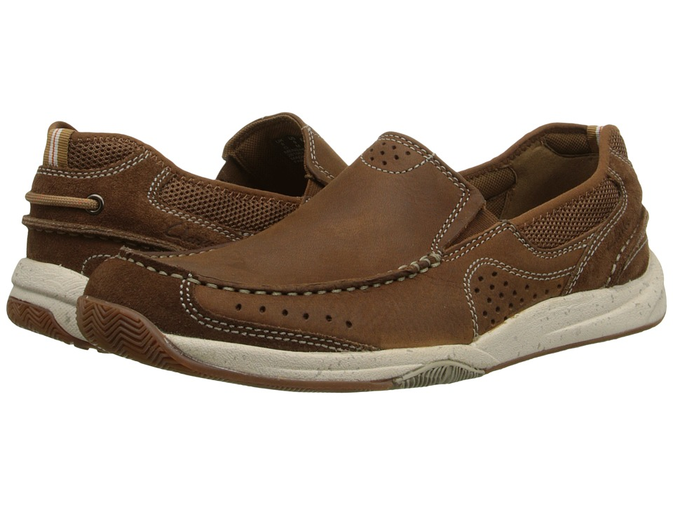 Clarks - Allston Free (Tan Nubuck) Men's Slip on Shoes