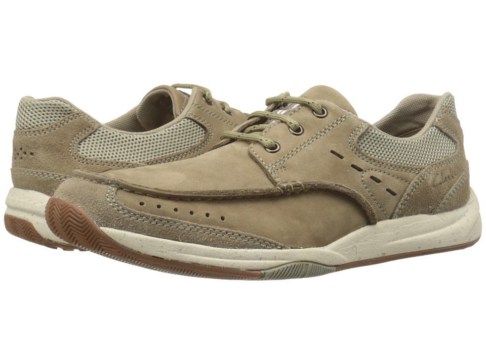 Clarks - Allston Edge (Taupe Nubuck) Men's Slip on Shoes