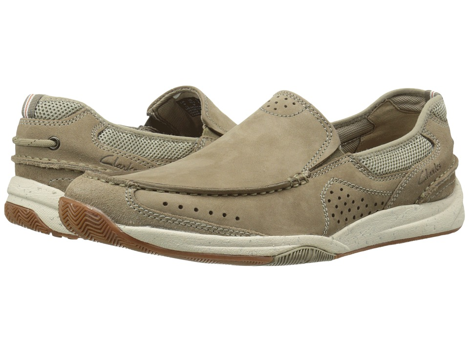 Clarks - Allston Free (Taupe Nubuck) Men's Slip on Shoes