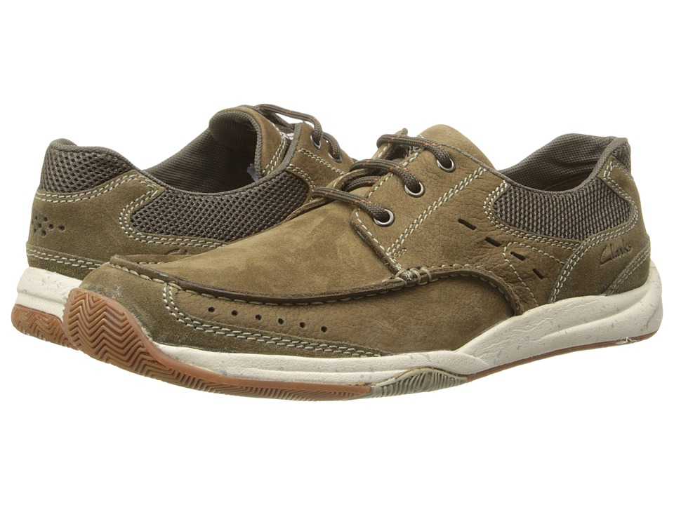 Clarks - Allston Edge (Olive Nubuck) Men's Slip on Shoes