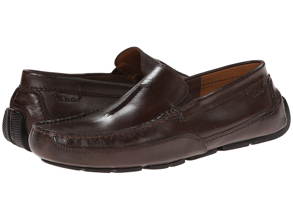 Clarks - Ashmont Race (Brown Smooth) Men's Slip on Shoes