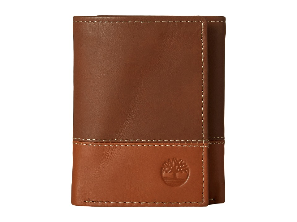 Timberland - Two-Tone Trifold (Black/Brown 1) Wallet Handbags