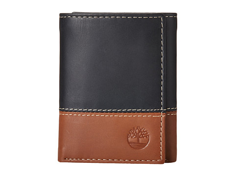 Timberland - Two-Tone Trifold (Black/Brown) Wallet Handbags