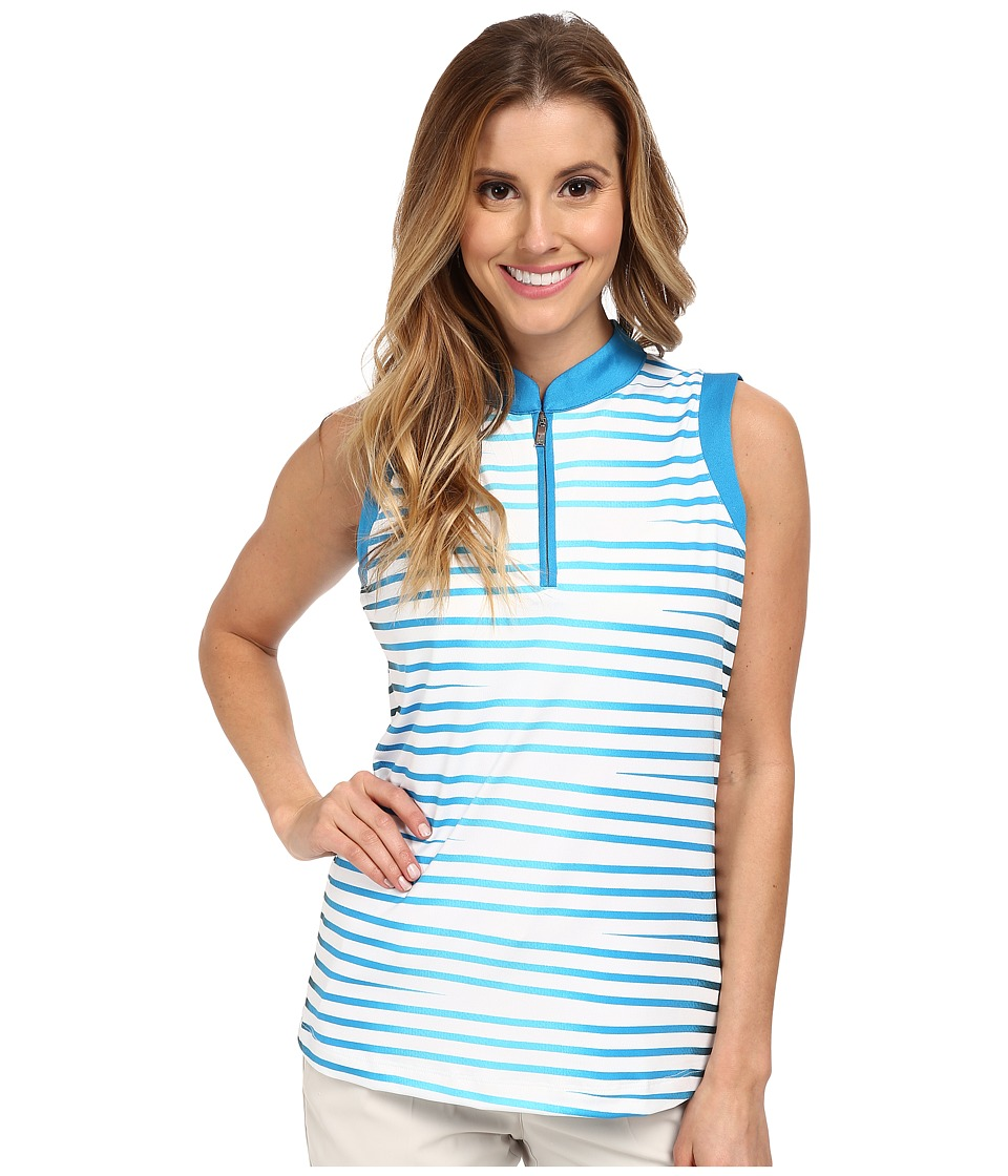 Tail Activewear - Cindy Performance Sleeveless Top (Ombre Stripes Print) Women's Sleeveless