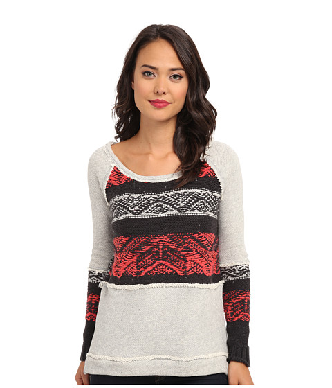 Free People - Snow Angel Pullover (Heather Grey Combo) Women's Long Sleeve Pullover