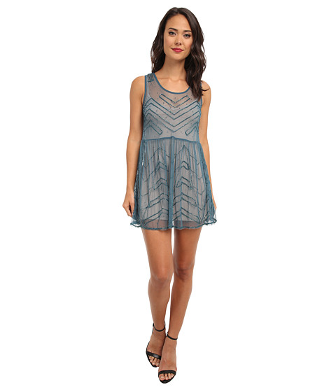 Free People - Embellished Slip (Jewel Blue) Women