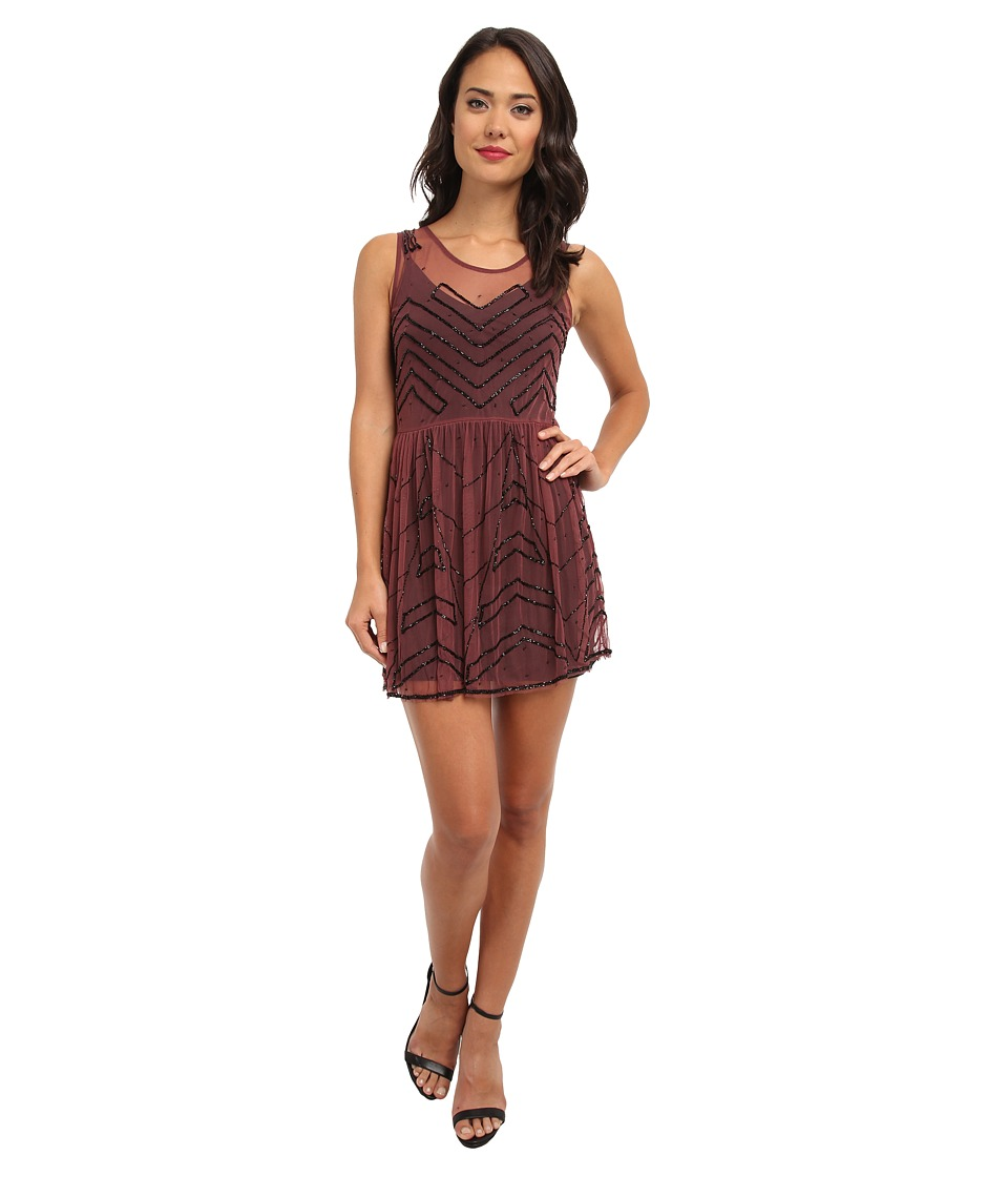 Free People - Embellished Slip (Plum) Women's Clothing
