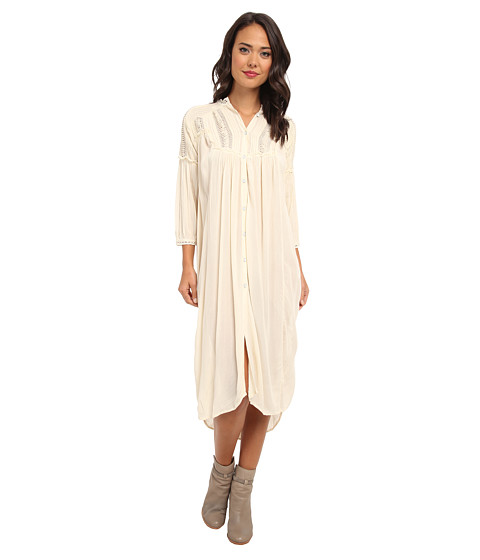 Free People - Fine N Mellow Blouse (Tea) Women's Dress