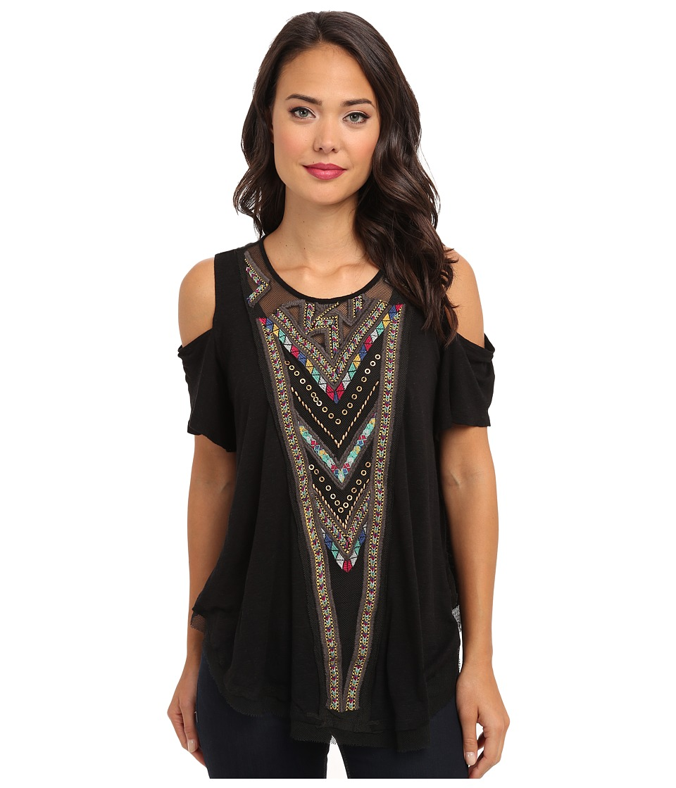 Free People - Love Spell Tee (Black) Women's Short Sleeve Pullover