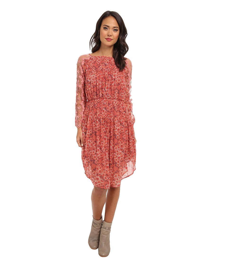 Free People - Charlotte Dress (Rose Glow Combo) Women