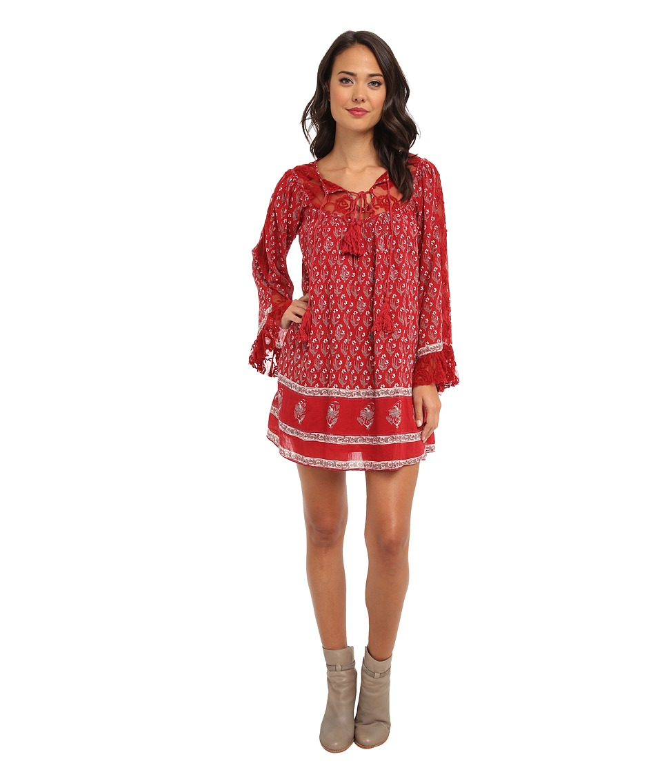 Free People - Nomad Child Dress (Cherry Combo) Women's Dress